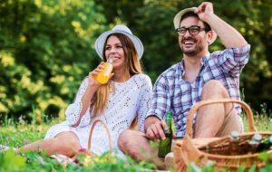 Picknicken im Wald